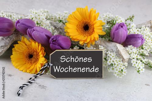 Foto Spatwand Gerbera Schönes Wochenende