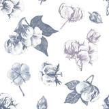 Cotton seamless pattern - 213751752