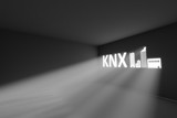 KNX rays volume light concept 3d illustration