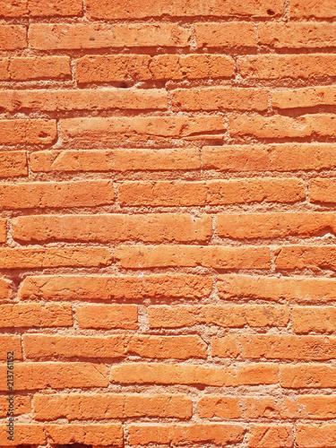 Aluminium Stenen Old Mountains Rock background, brick wall texture top view.