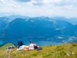 Leinwanddruck Bild - Entspannung in den Bergen des Salzkammergut