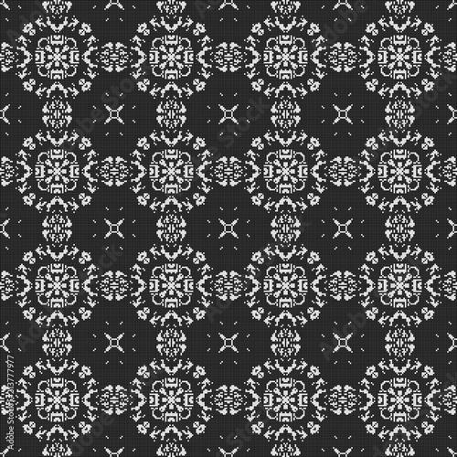 Black and white kaleidoscope texture - 213777977
