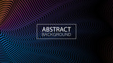 Geometric background with dynamic waves. Abstract vector illustration.