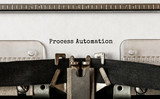 Text Process Automation typed on retro typewriter - 213793545