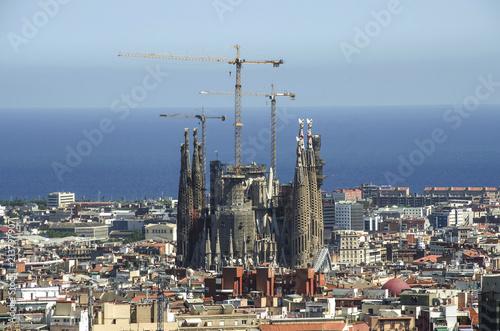 In de dag Barcelona Aerial Panorama view of Barcelona city