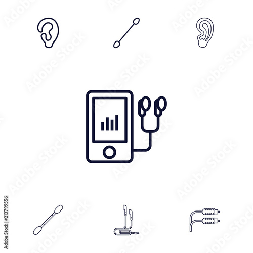 collection of 7 ear outline icons buy photos ap images detailview