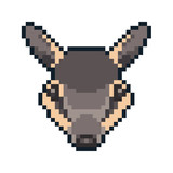 Pixel art numbat icon isolated on white background. - 213800349