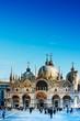 VENICE, ITALY - December 21, 2017 : St Mark's Campanile in Venice, ITALY