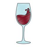 wine cup silhouette icon vector illustration design - 213812925