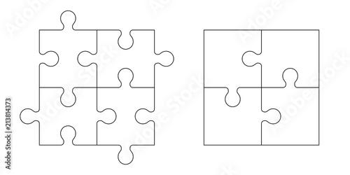 Set of puzzle pieces - 213814373