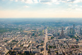 Warsaw city, Poland aerial panorama overlooking jerozolimskie street
