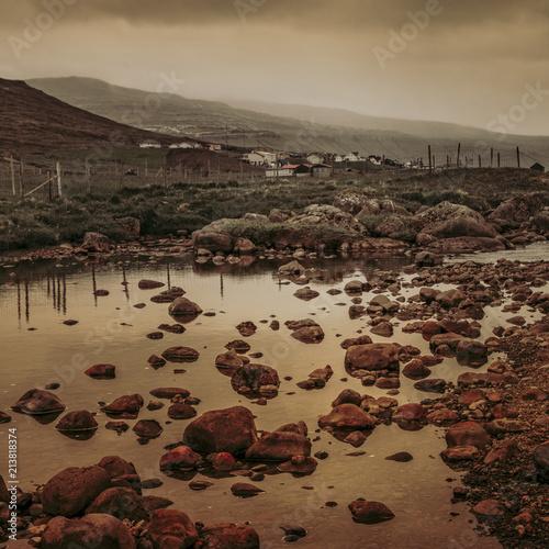 Foto Murales beautifull landscape in faroe