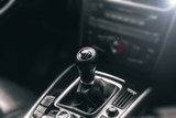 gear shift lever. luxury modern car.