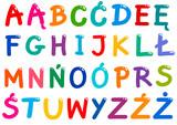 all Polish alphabet letters set - 213847994