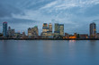 Office buildings in Canary Wharf in London - 213849315