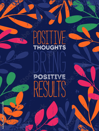 Aluminium Positive Typography Think Positive Quote Typographic Background Design
