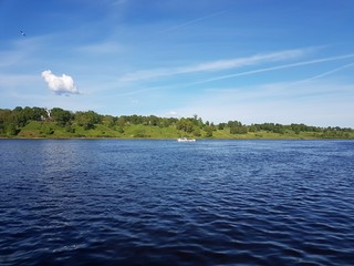 Volga river landscape