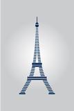 Abstract Eiffel Paris tower. Vector Illustration