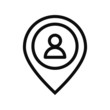 Pin People Location Icon