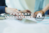Property investment business and technology concept. Virtual screen background. - 213895984