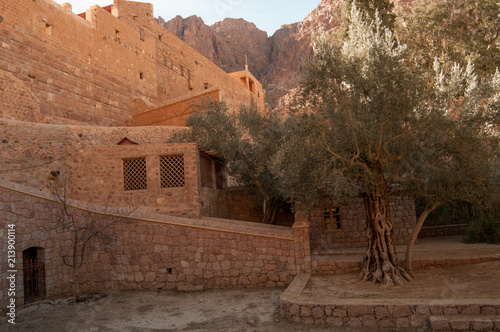 Old fashioned stone buildings in Egypt - 213900114