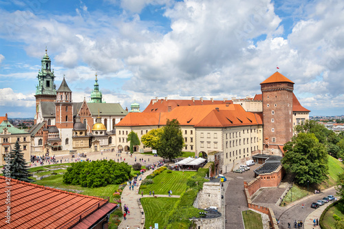 Canvas Krakau Wawel Royal Castle and Cathedral in Krakow, Poland
