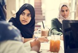 A group of Muslim students - 213909329