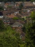 aerial view of suburbs - Birmingham England UK - 213914713