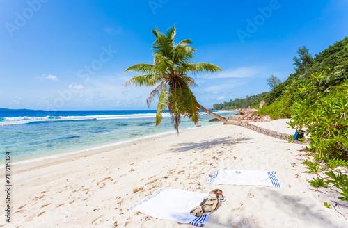Foto Murales plage d'anse Fourmis, la Digue, les Seychelles