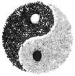 symbole ying yang en noir et blanc - 213915530