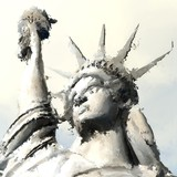 Digital Painting of the Statue of Liberty - 213916543