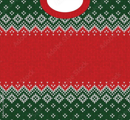 Ugly Sweater Merry Christmas And Happy New Year Greeting Card Frame