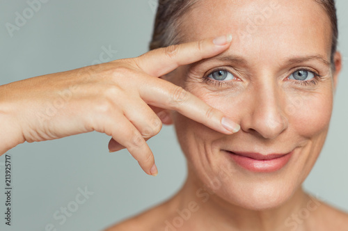Leinwandbild Motiv Mature woman eyes