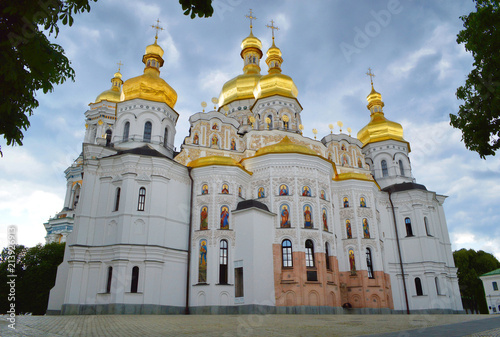 Canvas Kiev Back facade of Dormition church at Kiev Pechersk Lavra, Ukraine