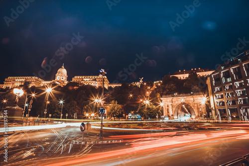 Fotobehang Boedapest Budapest at night. Hungarian landmarks