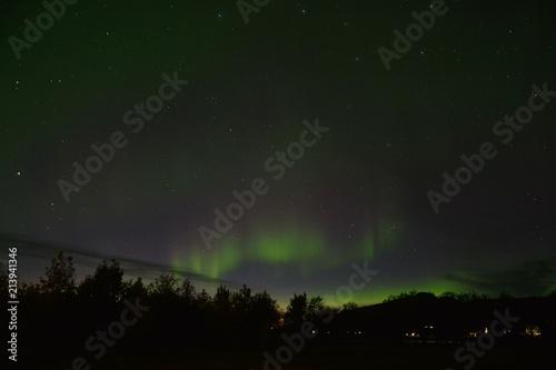 Plexiglas Noorderlicht The Northern Lights (Aurora Borealis) in Akureyri