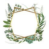 Wedding herbal frame - 213944540