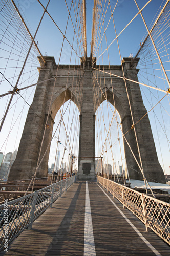 Plexiglas Brooklyn Bridge Brooklyn Bridge in Manhattan, New York City