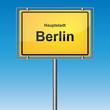 Ortsschild - Berlin
