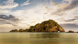 Small Island on twilight time - 213959301