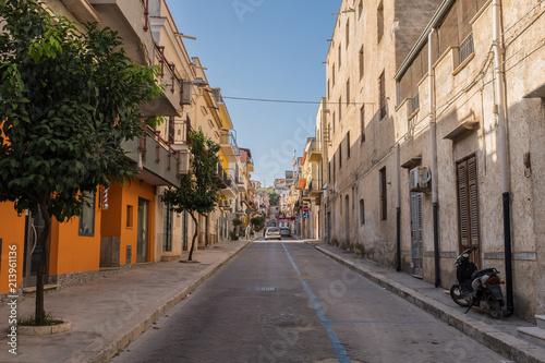 Plexiglas Palermo street of Balestrate in Palermo, Italian region Sicily