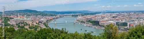 Fotobehang Boedapest Panorama Budapest vom Gellertberg