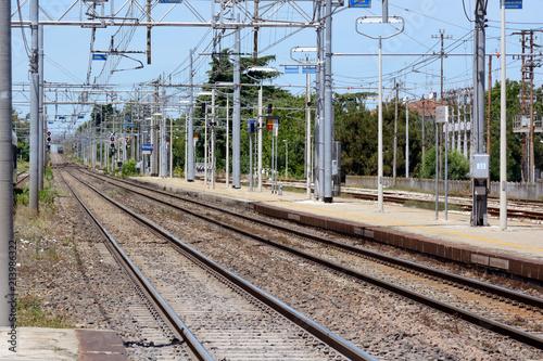 Foto Spatwand Spoorlijn binari