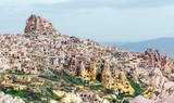 Uchisar castle in Cappadocia, Turkey. Landscape photography
