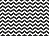 Regular black and white zigzag chevron pattern, seamless zig zag line texture abstract geometry background - 214034937