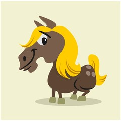 adorable friendly donkey horses cartoon character © vector_factory