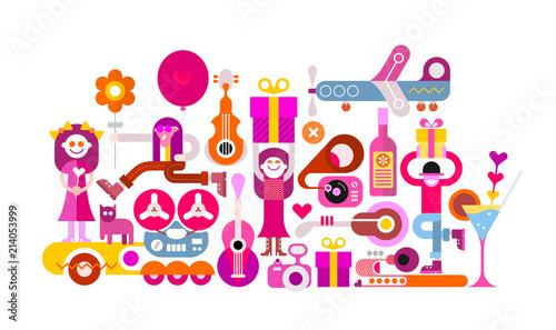 In de dag Abstractie Art Celebration party vector illustration