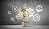 Concept of lightbulb as symbol of new idea. - 214073340