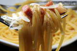 Pasta alla carbonara كاربونارا  カルボナーラ Spaghetti Cucina italiana Italian cuisine 培根蛋麵 Pâtes à la Καρμπονάρα Карбонара 카르보나라  - 214074791
