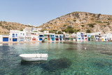Boats Moored in the Village Harbour of Klima, Milos island, Greece - 214075527
